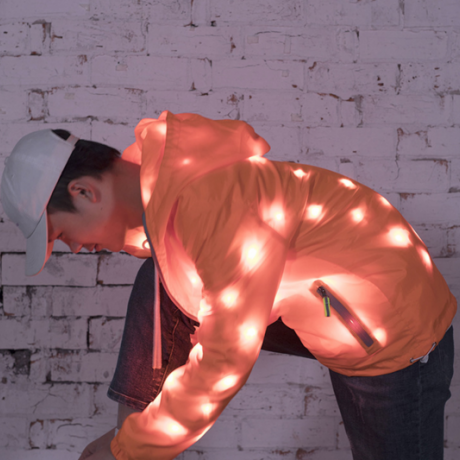 LED light up coat