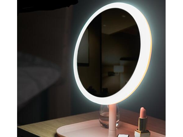 Rechargeable multifunctional desktop LED fill light makeup mirror