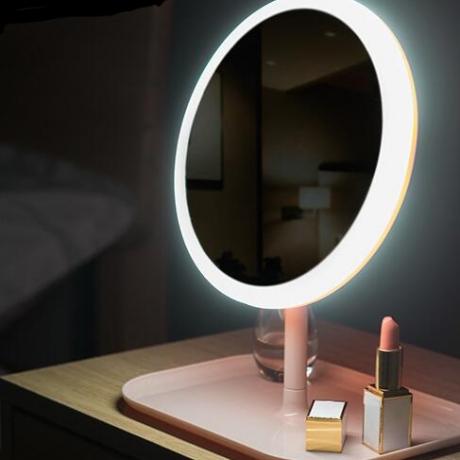 Rechargeable multifunctional desktop LED fill light makeup mirror