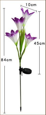 solar lily lamp