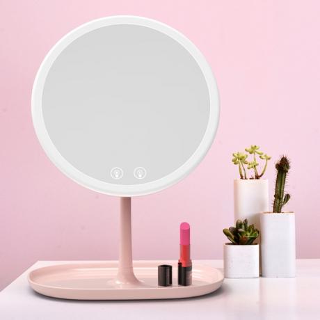 Natural sunlight LED light desktop mirror