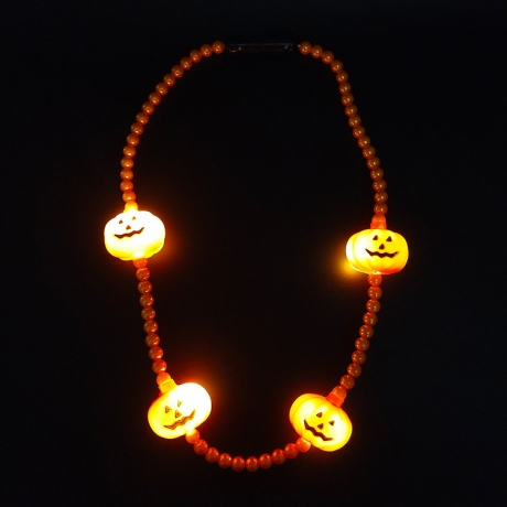 LED pumpkin glowing necklace