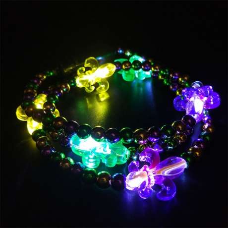 LED Christmas beads necklace
