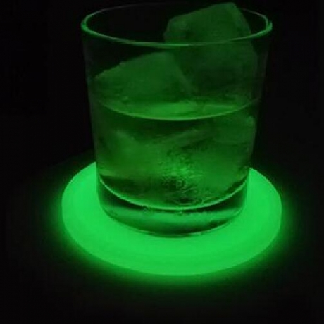 Silicone luminous cup pad can be printed with logo
