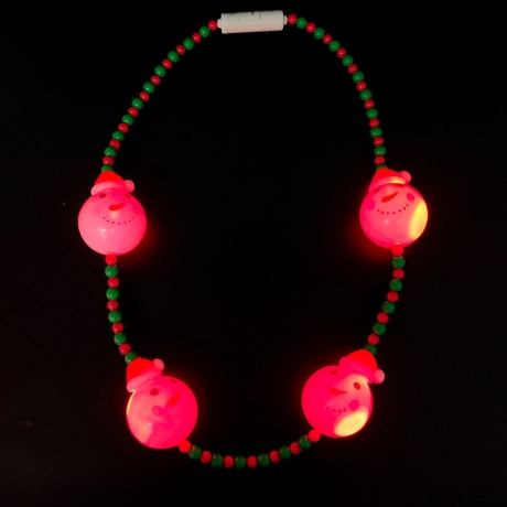 LED Christmas Snowman Necklace