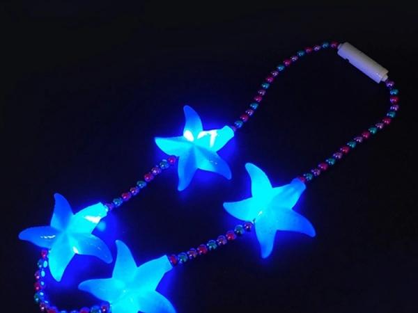 LED starfish luminous necklace
