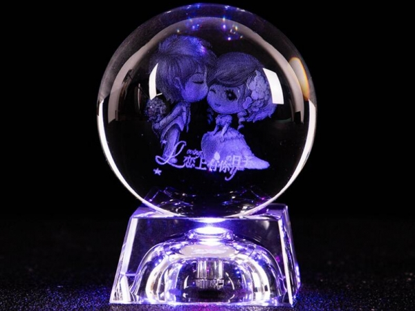 Hand made light up crystal ball for gifts