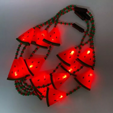 LED Watermelon Glowing Necklace