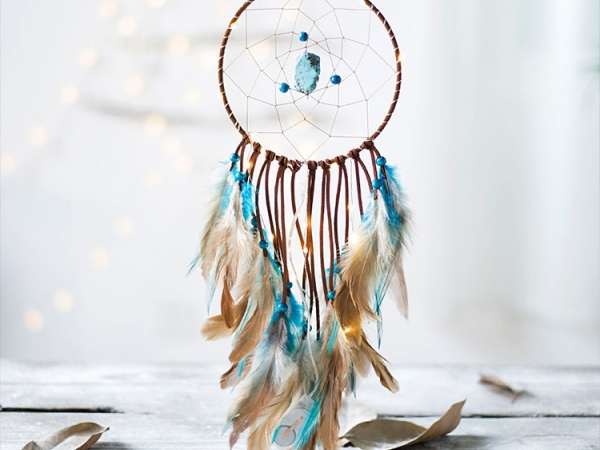 Warm light effect LED strings decorative dreamcatcher