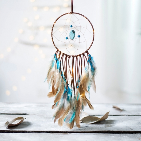 Warm light effect LED strings decorative dreamcatcher