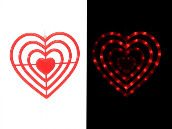 Red love LED light string