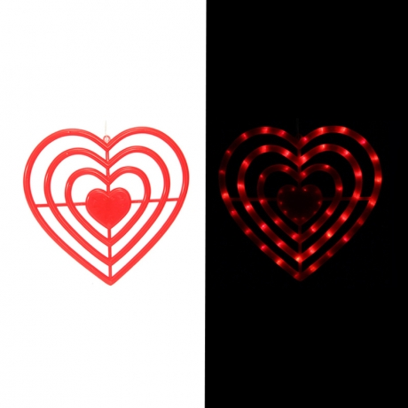 Red love LED light string