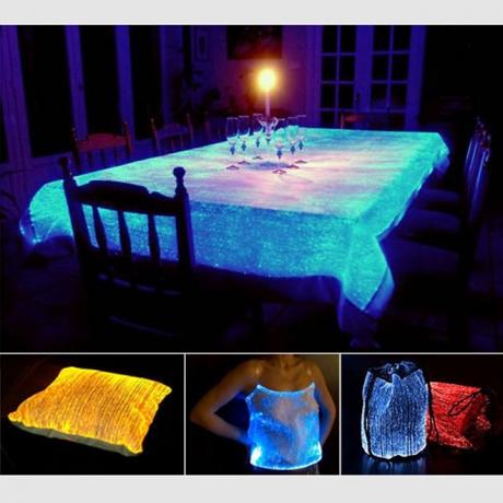 Luminous fiber optic fabric