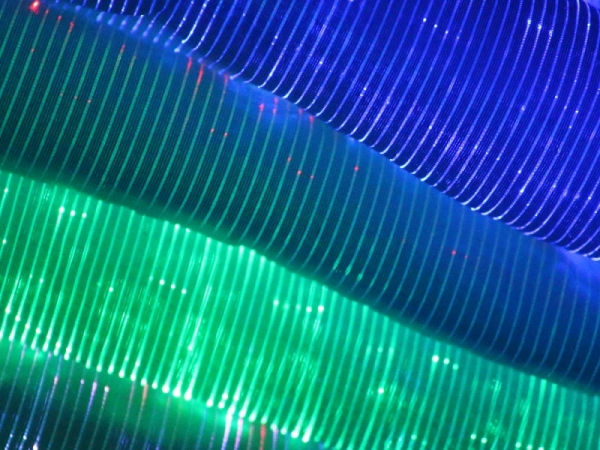 2020 coming light emitting fiber optic luminous fabric