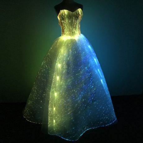 Luminous fabric Wedding dress