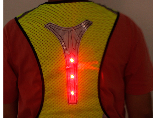 Led light up reflective vest for riding night running and mountaineering