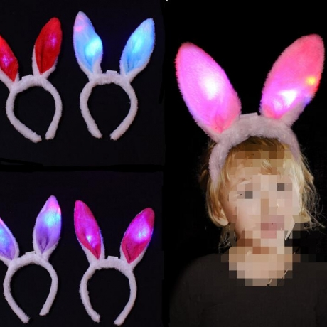 LED luminous plush rabbit ear band