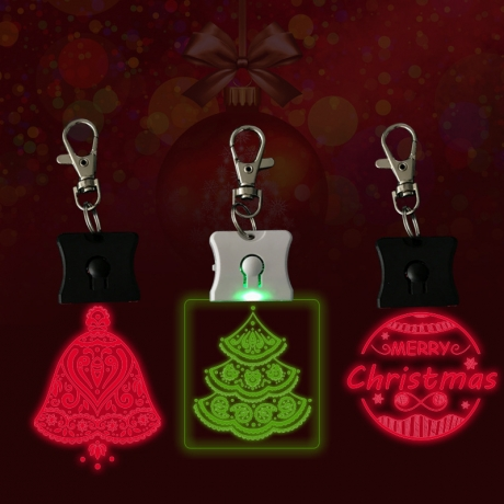 LED colorful color changing acrylic keychain