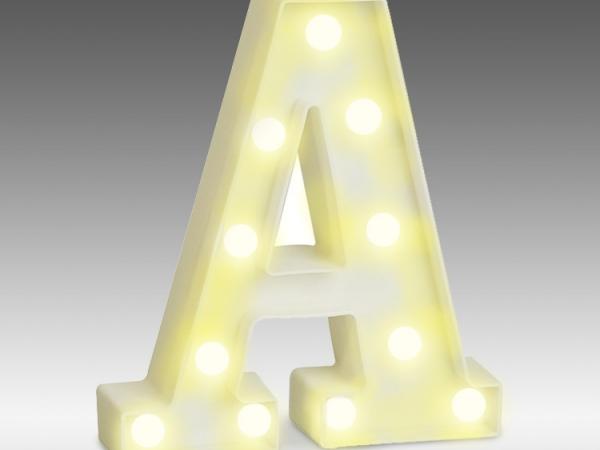 LED light up alphabet room decoration bulb light letter