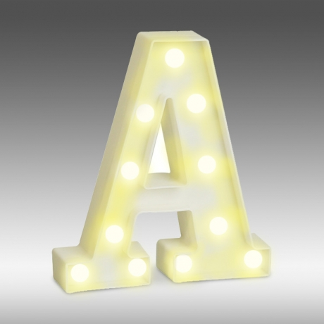 LED light up alphabet room decoration bulb light letter