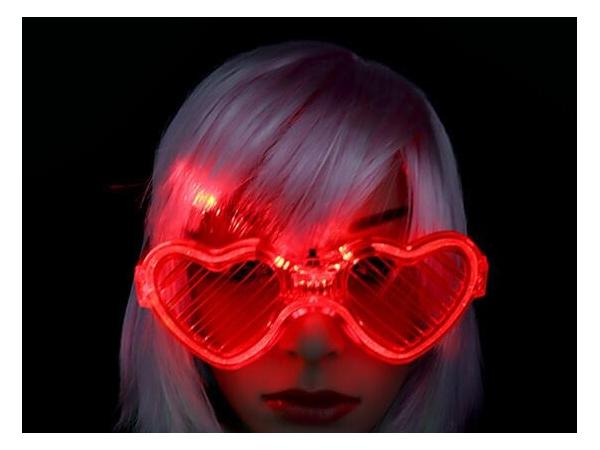 Love blinds luminous glasses