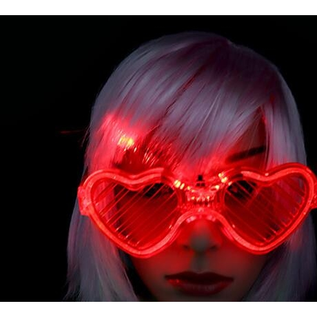 Love blinds luminous glasses