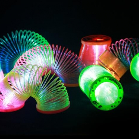 LED luminous rainbow plastic spring