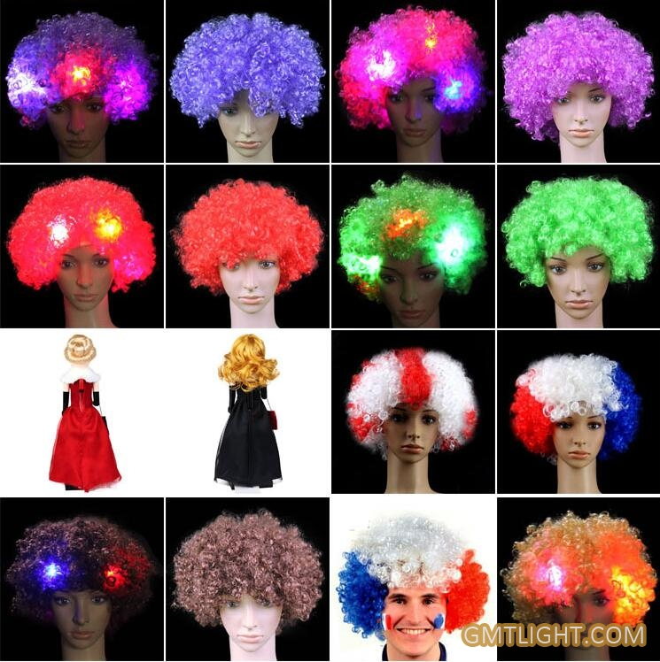 flash puffy wig head cover