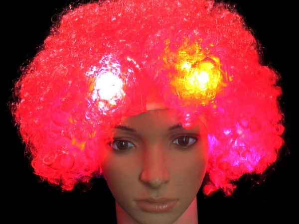 NEWEST High and super quality Synthetic LED multi color wigs