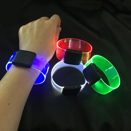 Magnetic attracting luminous bracelet