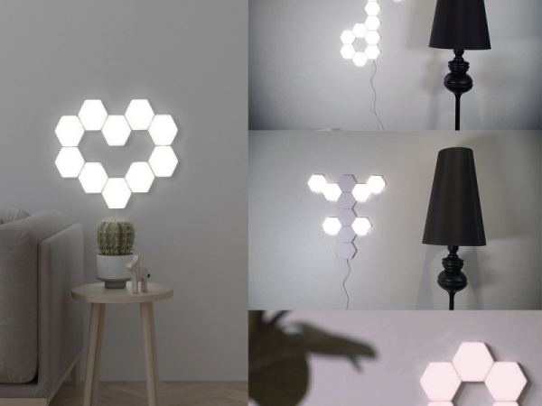 Home Decor DIY Sensitive Quantum hexagon wall light Lamp