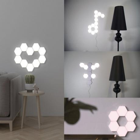 Home Decor DIY Sensitive Quantum hexagon wall light Lamp