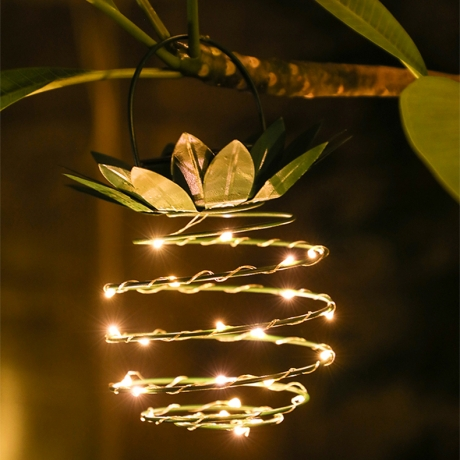 Iron pineapple light string (ML-069)