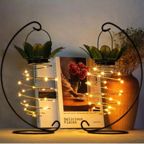 Solar Powered 24 LED Unique metal Creative Vintage Iron Filament Lamp