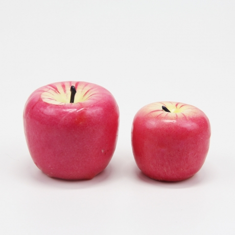 Realistic apple candles