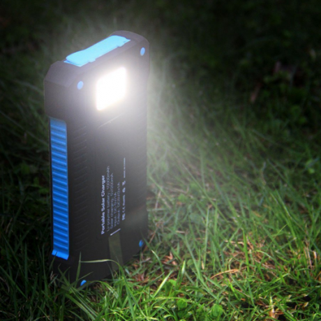 Portable solar mobile power bank supply
