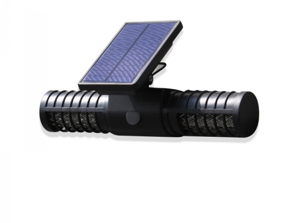 Solar UV double purple LED head mosquito lamp