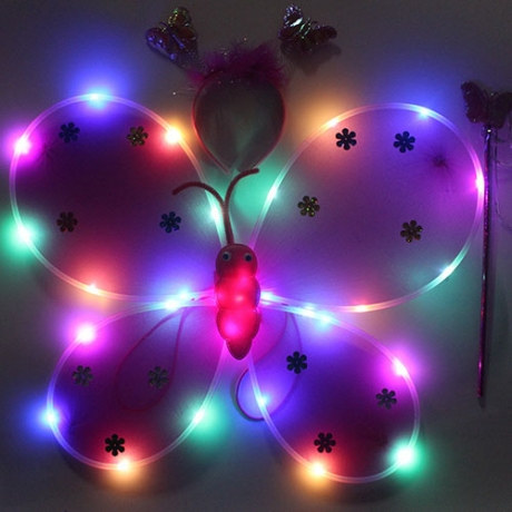 LED butterfly wings for children