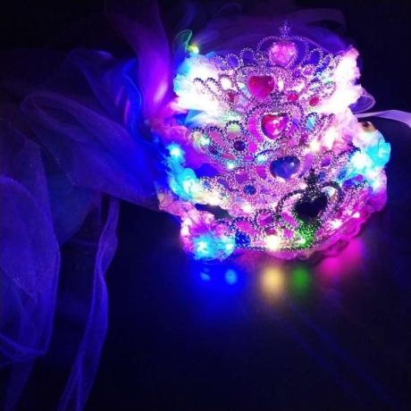 Light UP crystal crown LED headdress