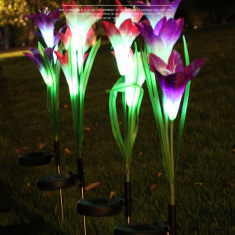 Landscaping Solar Power Garden Landscape Flower Color Lamp