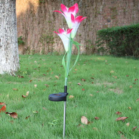Lovely Decorative OEM Waterproof Solar Powered LED Tulip