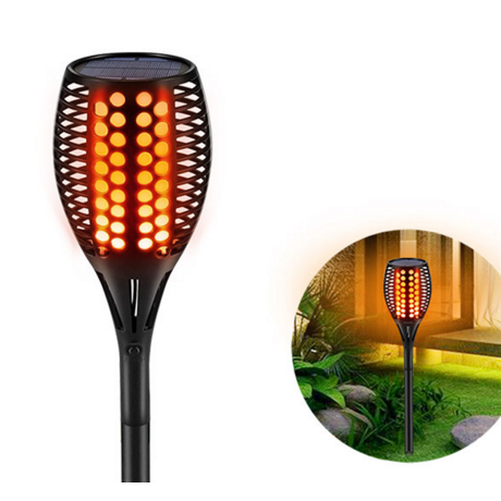 Solar torch lamp for camping or courtyard