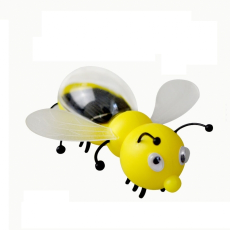 The solar toy will move the bee for kids