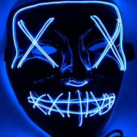 Halloween EL cold light horror mask