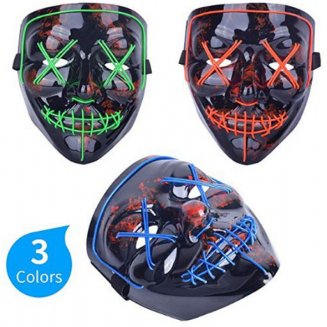 Costume Cosplay Props neon glowing Masquerade Dj Masks