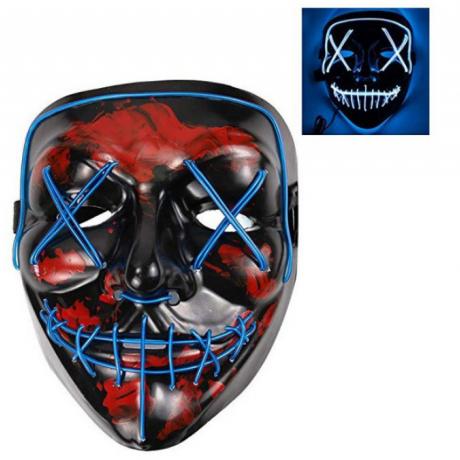 High brightness light up LED EL Wire Mask