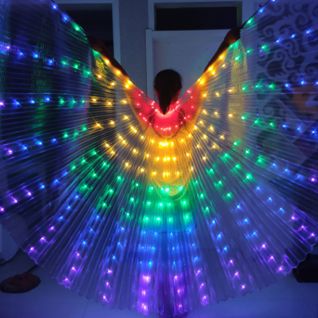 LED luminous big wing dance clothes or luminous children's dancing large wings
