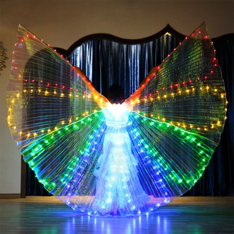 LED bally dance 8 segments colorful light big wing decoration (YC-002)
