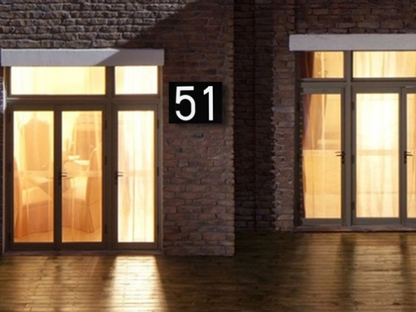 LED Door Number Address Digits Wall Mount Porch Lights