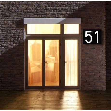 LED Door Number Address Digits Wall Mount Porch Lights